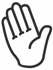 cartoon outline of a human right hand