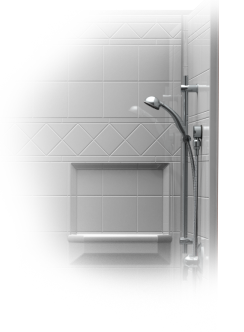 shower wand attachment for barrier-free showers