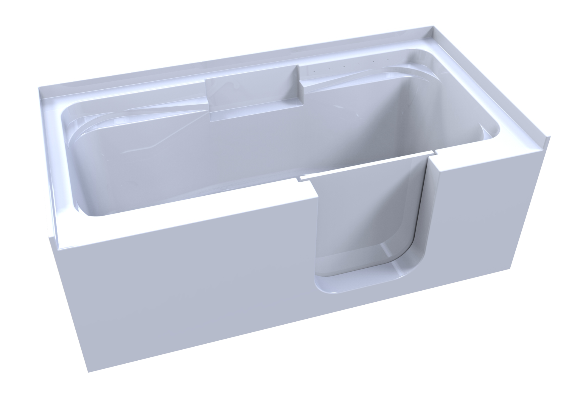 3d model of so-lo style walk-in bathtub, no water