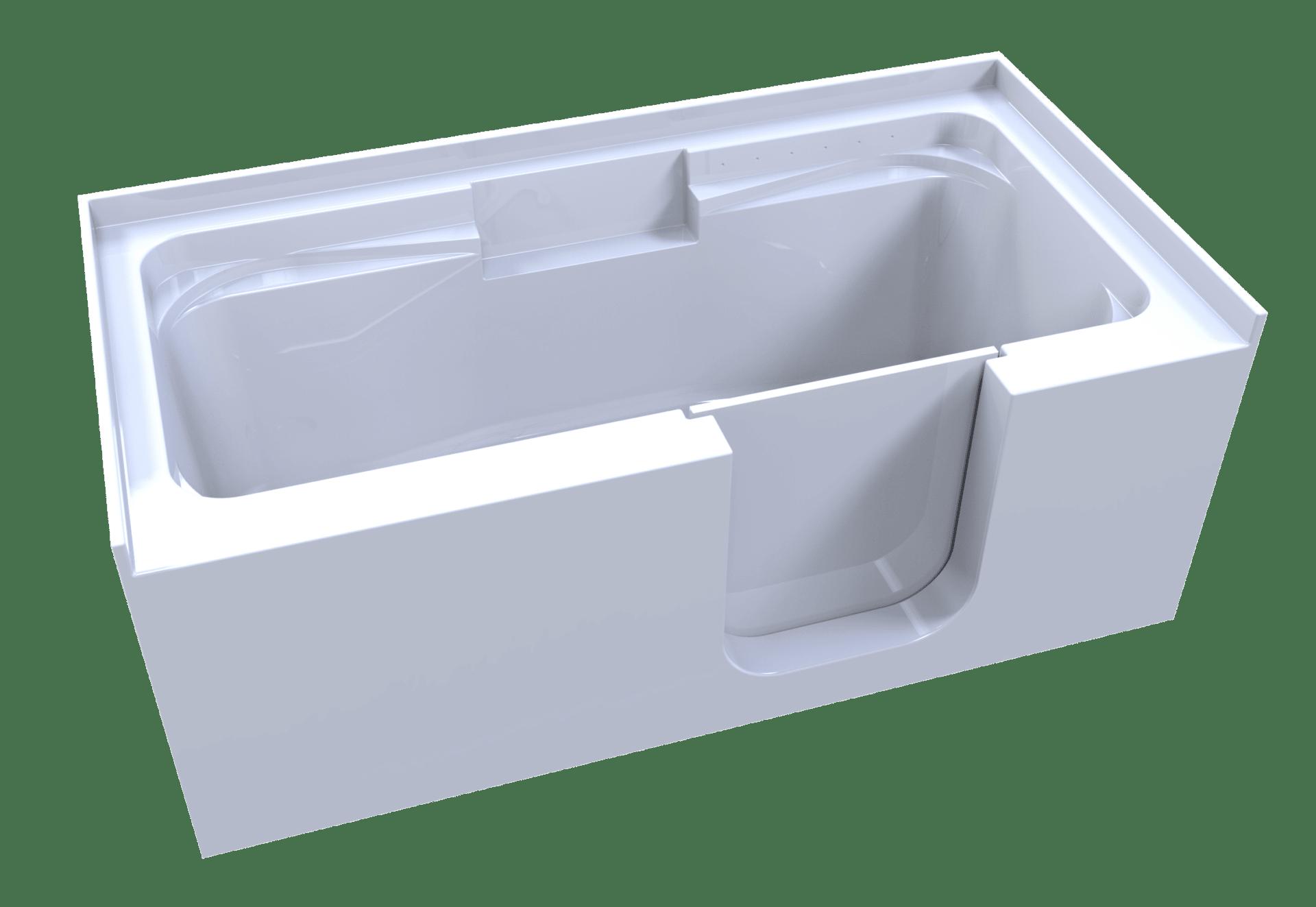 3d model of so-lo style walk-in bathtub, no water