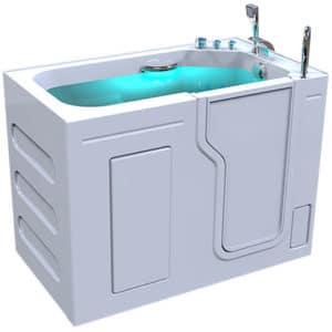 3d model of Fairmont style walk-in bathtub, door closed, full of water