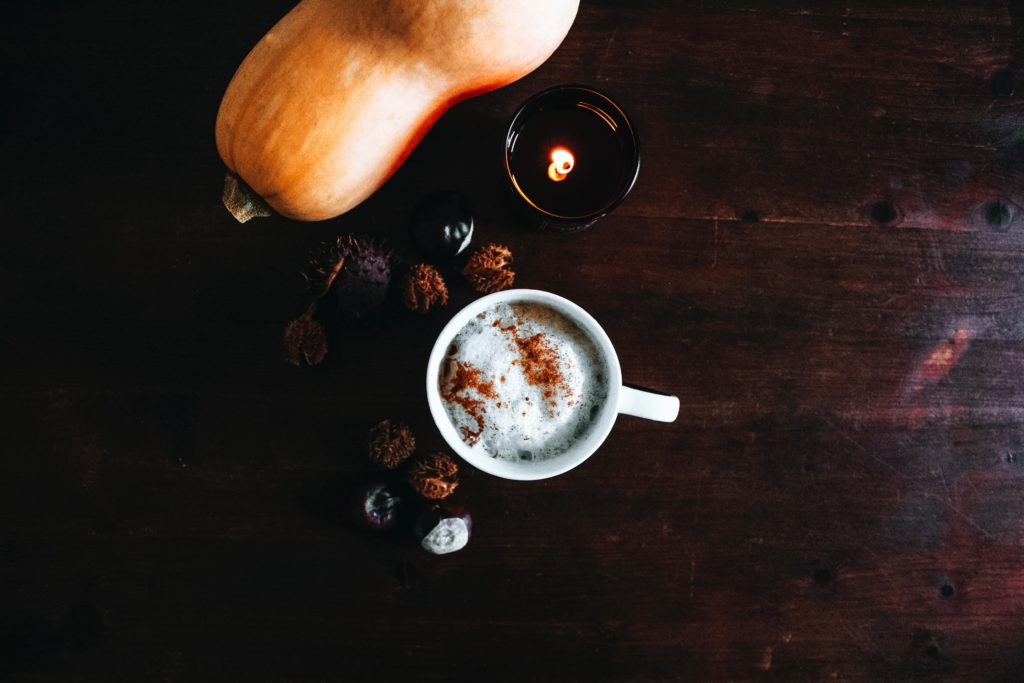 Butternut squash and pumpkin spice latte