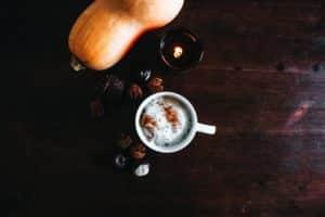 Butternut squash and pumpkin spice latte