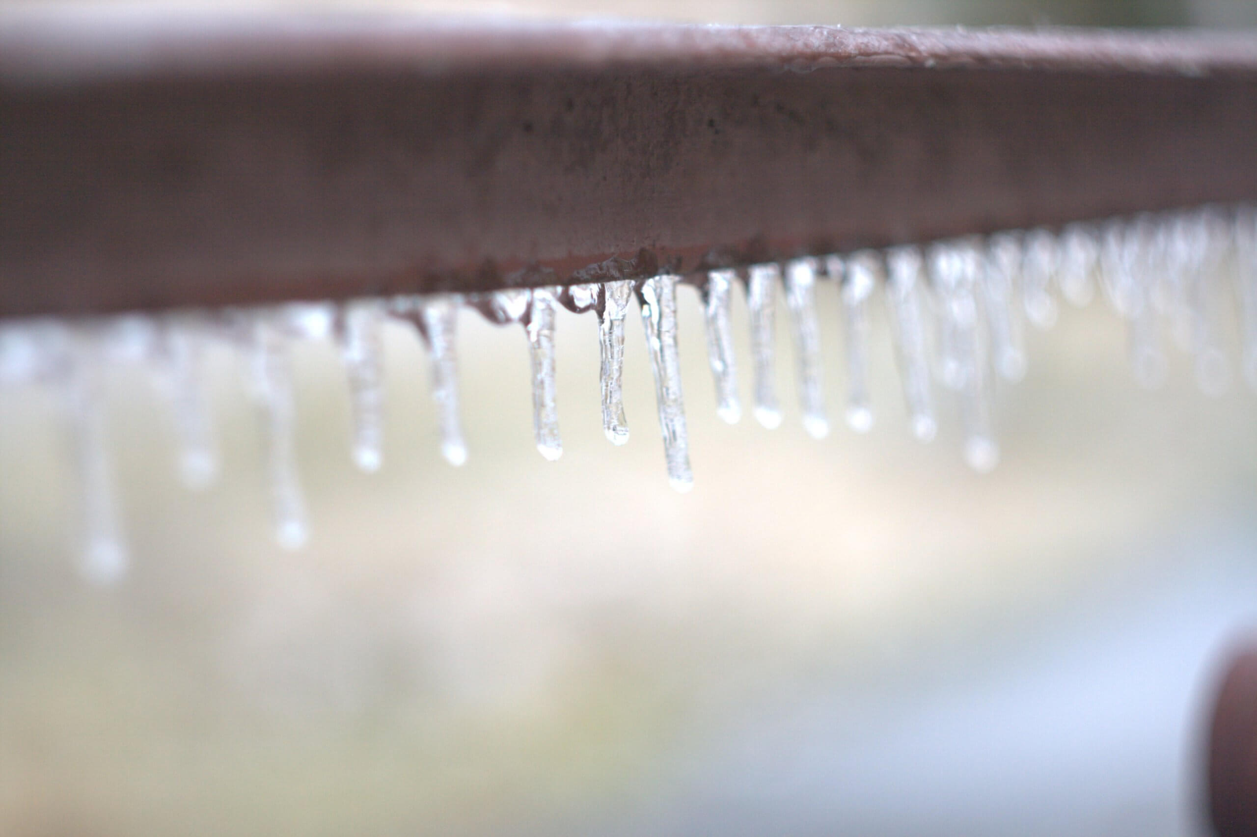 Icicles on a step